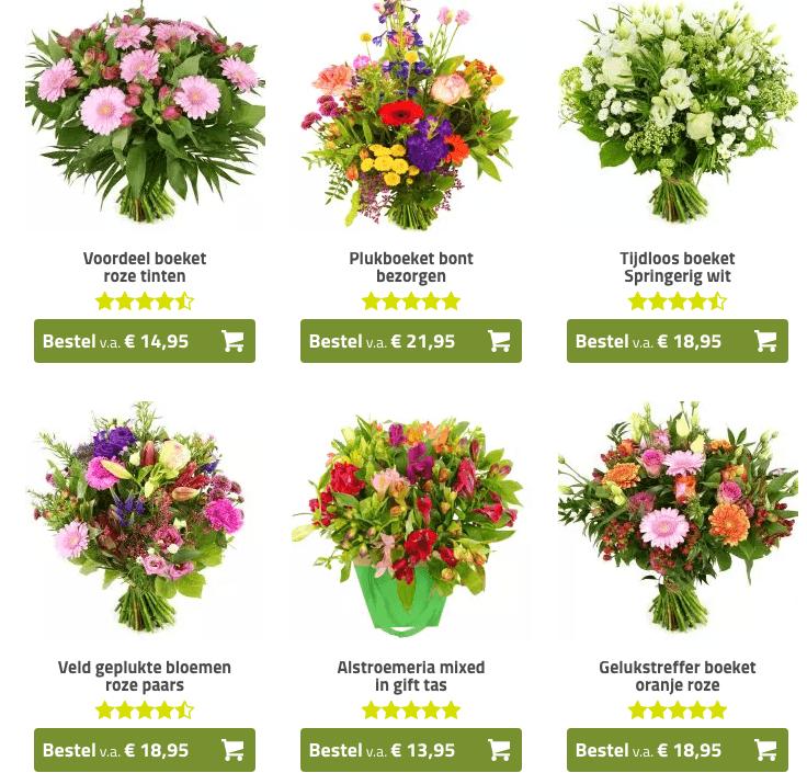 Ieder seizoen bloemen